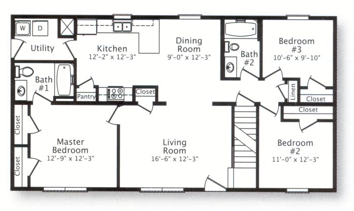 Floorplans besides Modern House Design 2012002 together with Planos De Casas Para Construir also 1000 Sqft Single Storied House Plan And likewise Popular Floor Plans Mitchell Homes. on 3 bedroom 2 bath floor plans