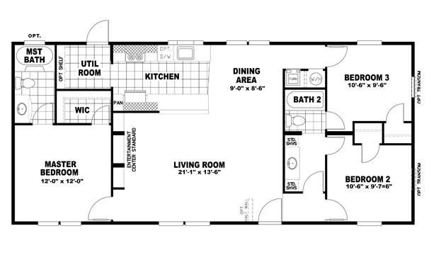 AGL Homes Clayton Homes Inspiration Series Clayton Doublewide - Clayton modular homes floor plans