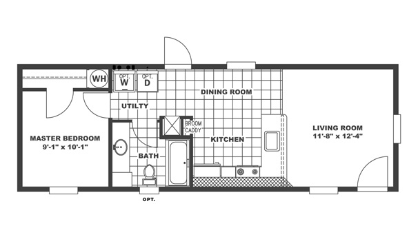 Agl homes clayton homes inspiration series clayton for 14x40 mobile home floor plans